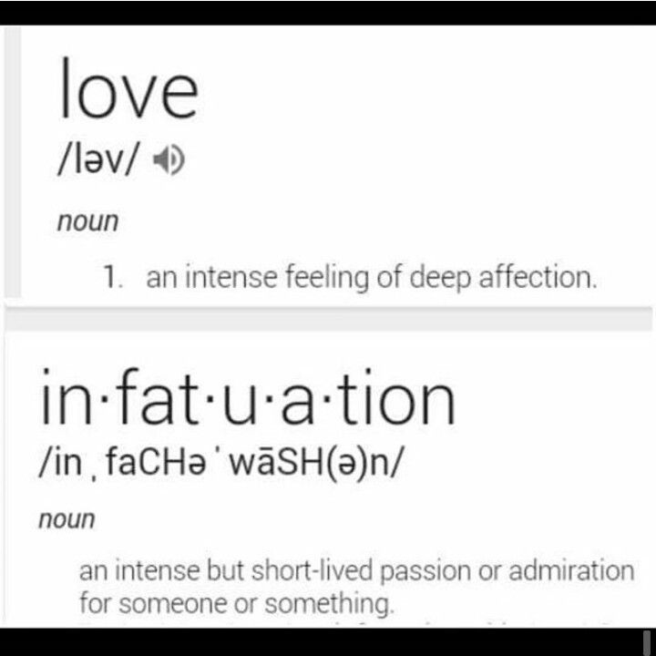 what is the difference of love and infatuation