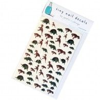 Hand-Painted Nail Art Decals - Dinosaurs