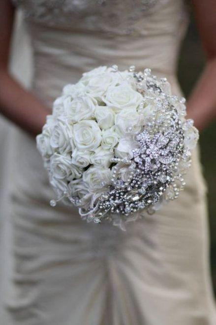 Bouquet Sposa Swarovski.Con Swarovski Fiori Per Matrimoni Matrimoni Invernali E Giorno