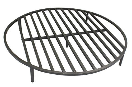 """Round Fire Pit Grate 30"""" Heavy Duty Grill Cooking Campfire"""