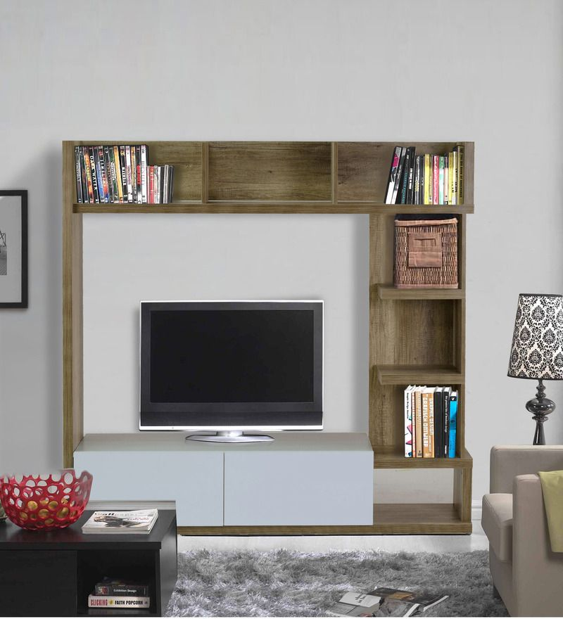 Buy Itsuki Entertainment Wall Unit in Natural Finish by Mintwud ...