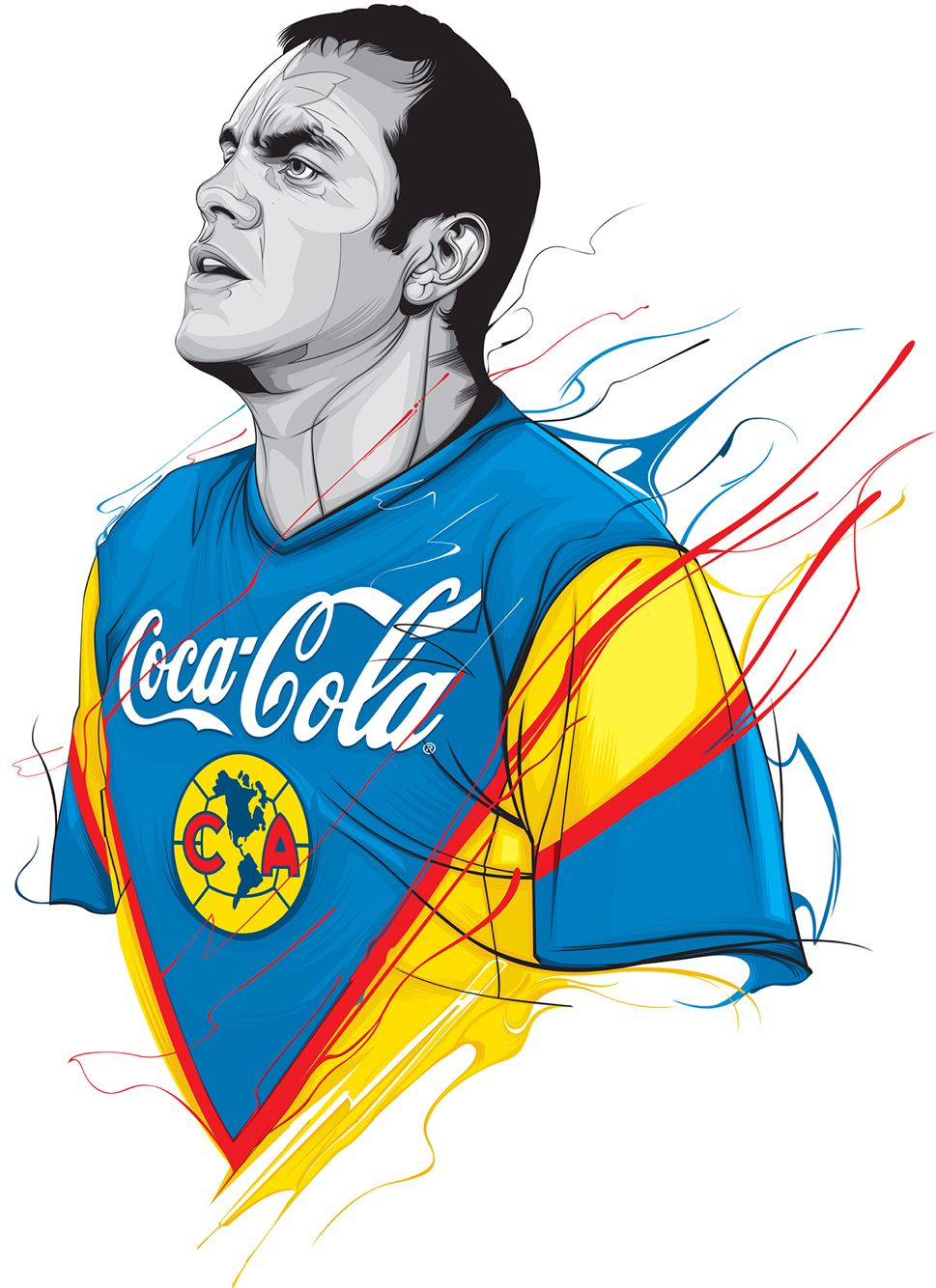 96dadef0584 Cuauhtémoc Blanco Deportes Dibujos, Dibujos De Futbol, America Campeon, Aguilas  Del America,