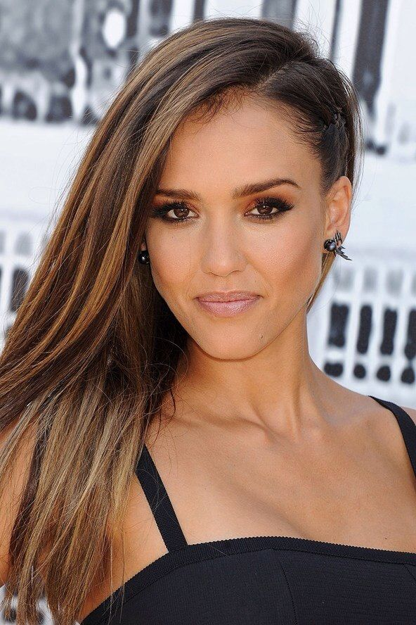 Get The Look Jessica Albas Faux Undercut Hairstyle Hair
