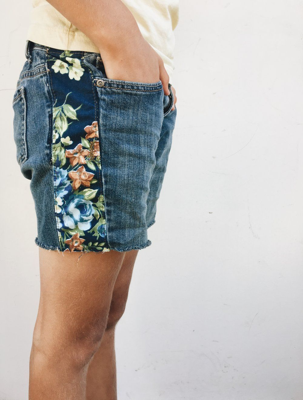 How to Make Boho Inspired Jean Cutoff Shorts  — Blue Corduroy #mygirl