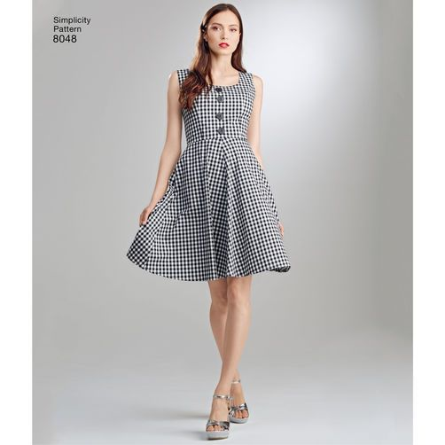 Misses Dresses Inspired By Project Runway Feature Square Or Scoop Necklines Princess Seam Bodice To Help Achieve Best Fit Straight Asymmetric Skirt
