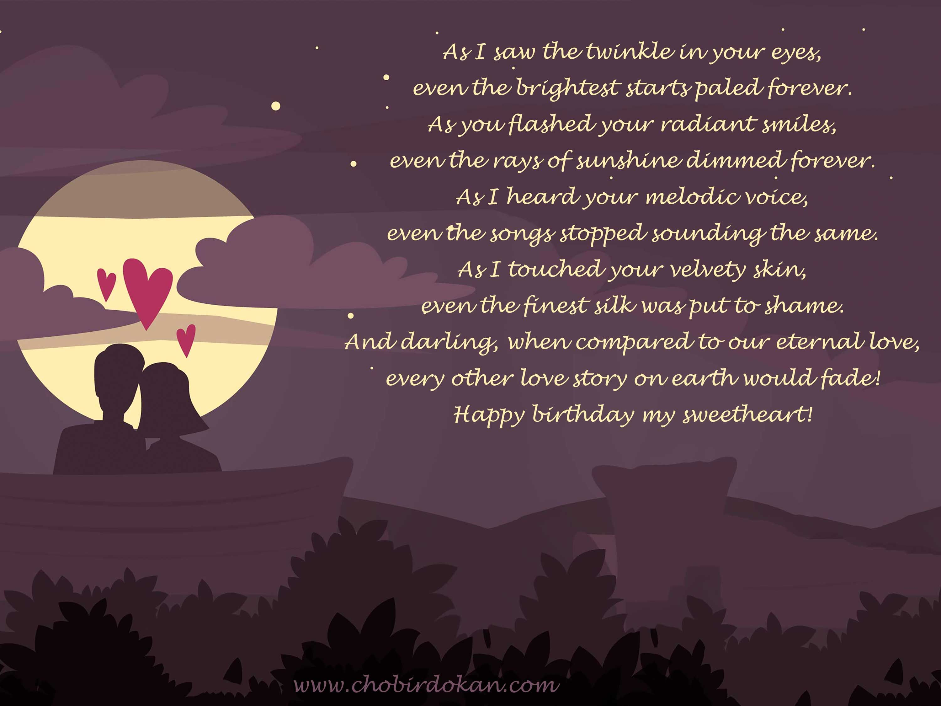Short birthday love poem