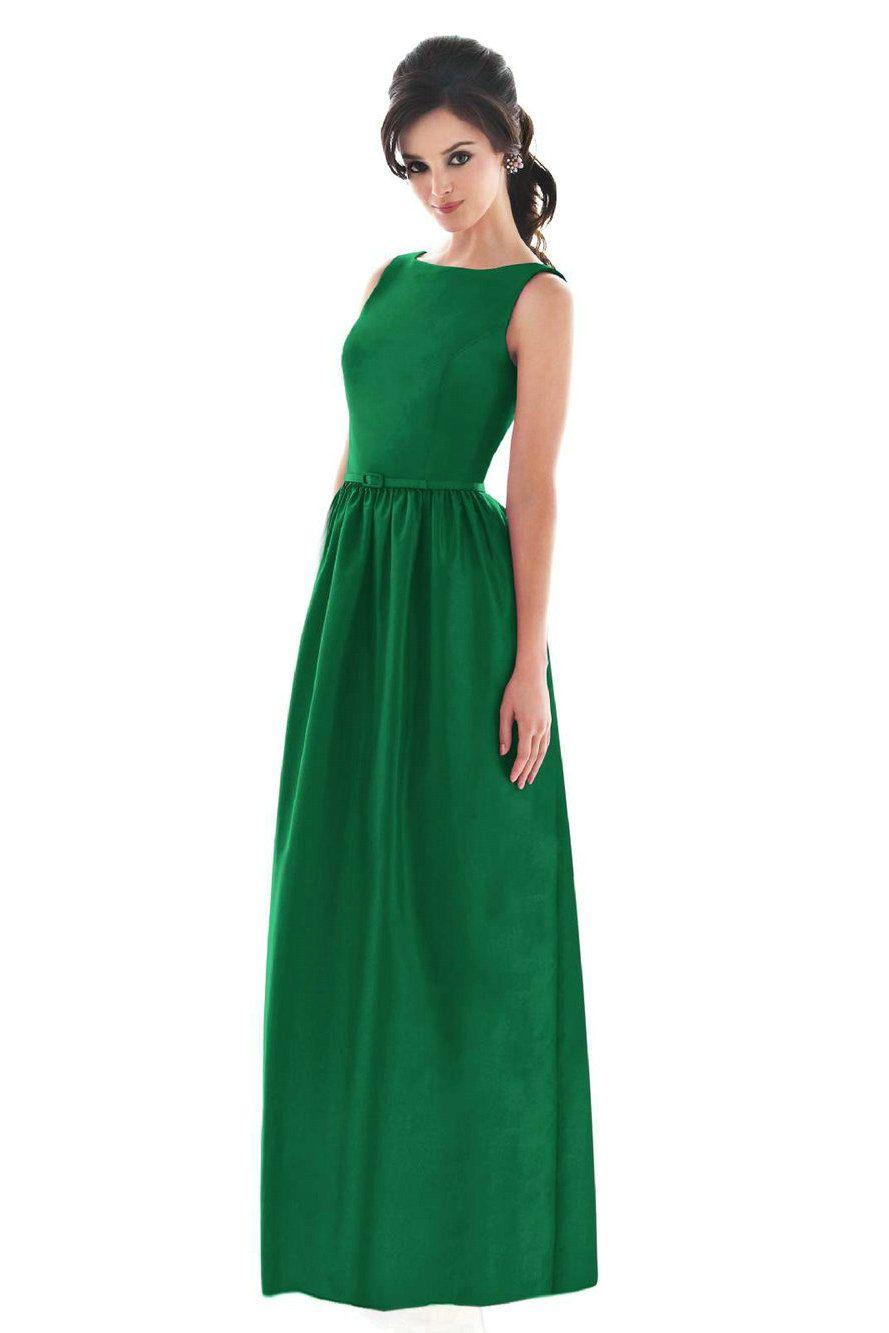 High Neck Vintage Modest Bridesmaid Dresses Green Outlet,Buy ...