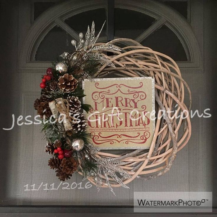 Made To Order Christmas Grapevine Wreath/Holiday Decor/Front Door Wreath/Seasonal  Wreath