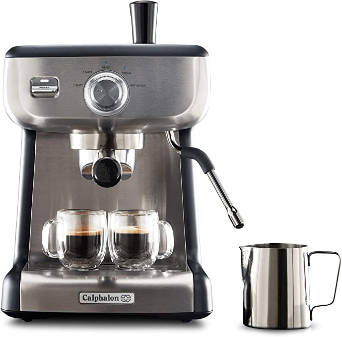 Amazon Com Calphalon Bvclecmp1 Temp Iq Espresso Machine With Steam Wand Stainless Kit In 2020 Best Home Espresso Machine Home Espresso Machine Best Espresso Machine Espresso machine with steam wand