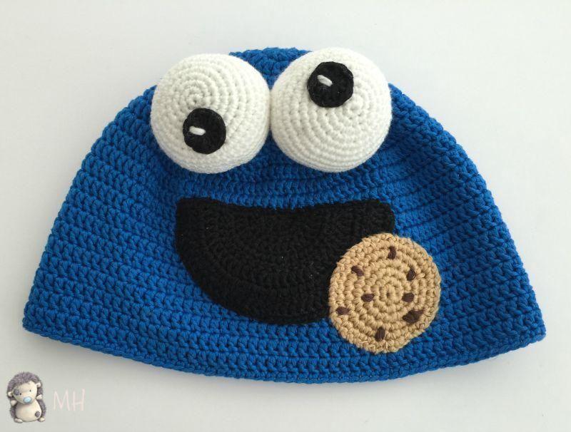 Gorro a crochet, ¡el Monstruo de las Galletas! | ropa crochet ...