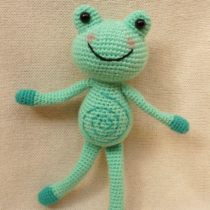 Croc Frosch - kostenlose Amigurumi Muster   Häkeln   Pinterest ...