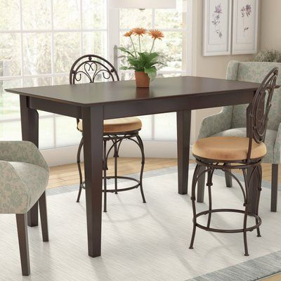 Andover Mills Crestwood Solid Wood Dining Table Color Caramel Size 35 75 H X 36 W X 60 D Dining Table Metal Leg Dining Table Dining Table In Kitchen