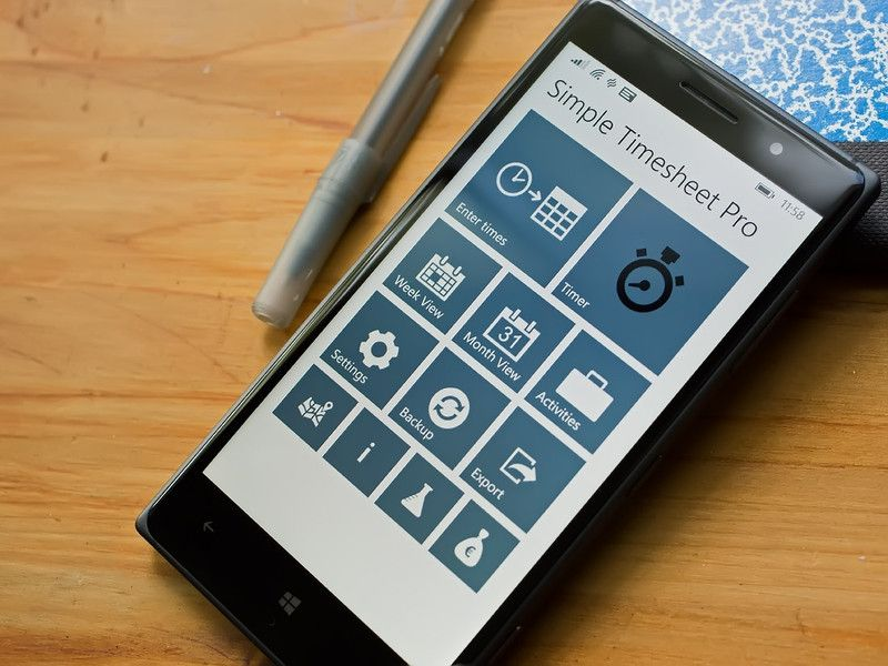 Simple Timesheet Pro  today s myAppFree Deal   Pinterest   App design Timesheet Pro is a Windows Phone app designed to help you manage your work  schedule in