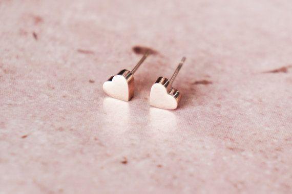 Tiny rose gold hearts.