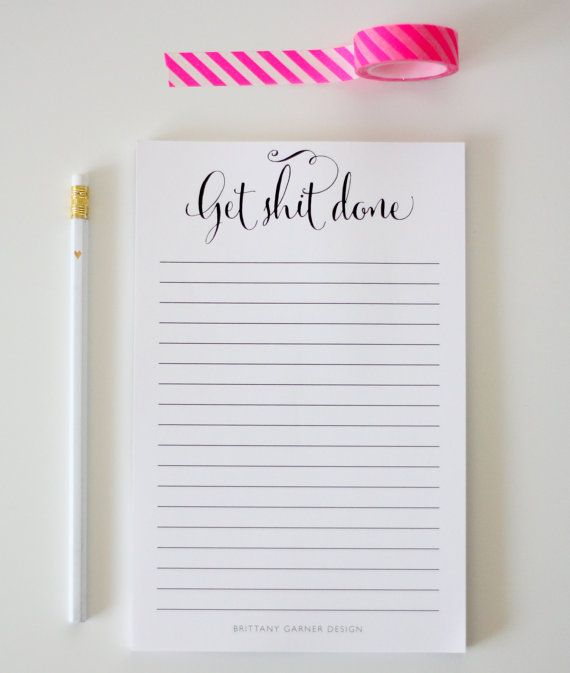 Note Pad - To Do List - Get Shit Done by ...
