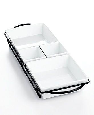 The Cellar Whiteware 5 Piece Rectangular Server Serveware Dining Entertaining Macy S Bridal And Weddin Dining And Entertaining Registry Items Serveware