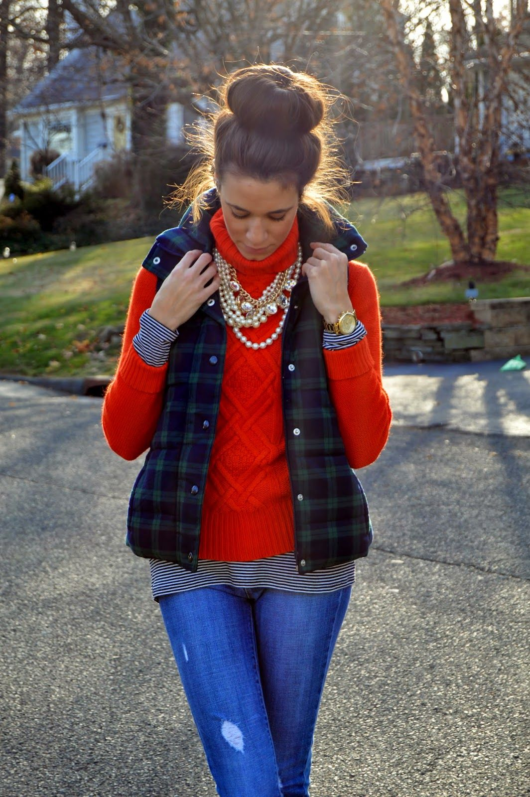 Bundle up // layers and mixing prints