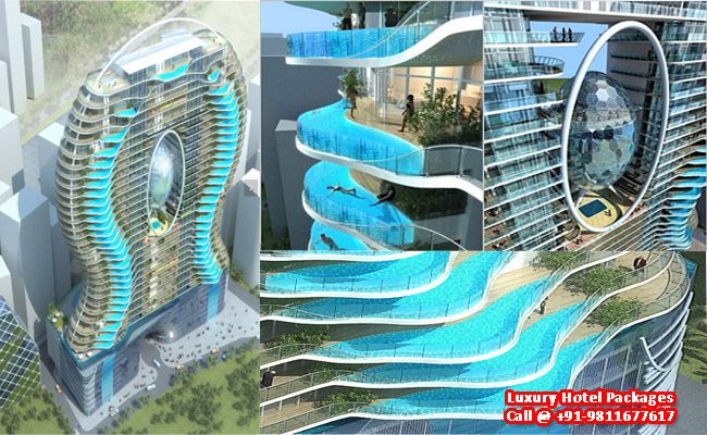 Aquaria grande tower apartment residential hotel mumbai - Hotel with swimming pool on every balcony ...