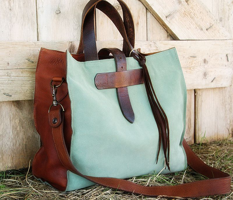 Dubois Leather Tote Western