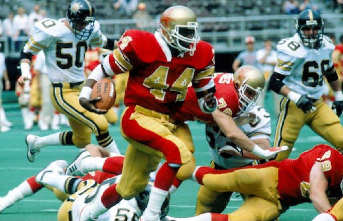 1983 denver gold at philadelphia stars nfl football
