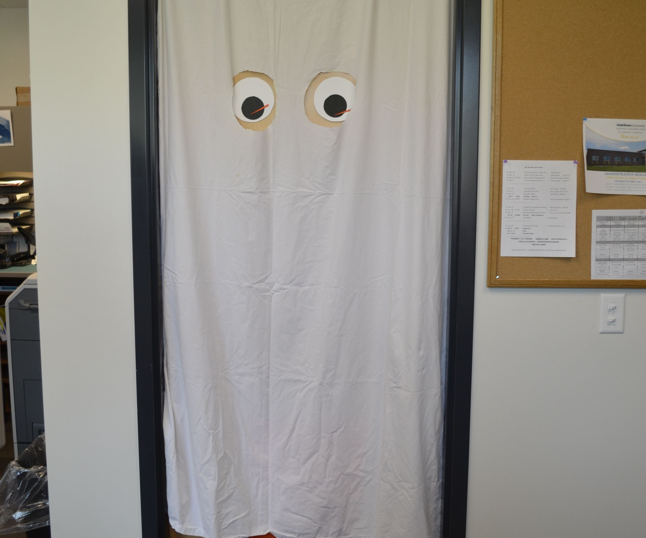 Doorway Sheet Ghost Halloween door decorations, Decoration and Doors - halloween decorations for the office