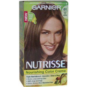 Garnier Nutrisse Haircolor 61 Light Ash Brown Mochaccino Beauty