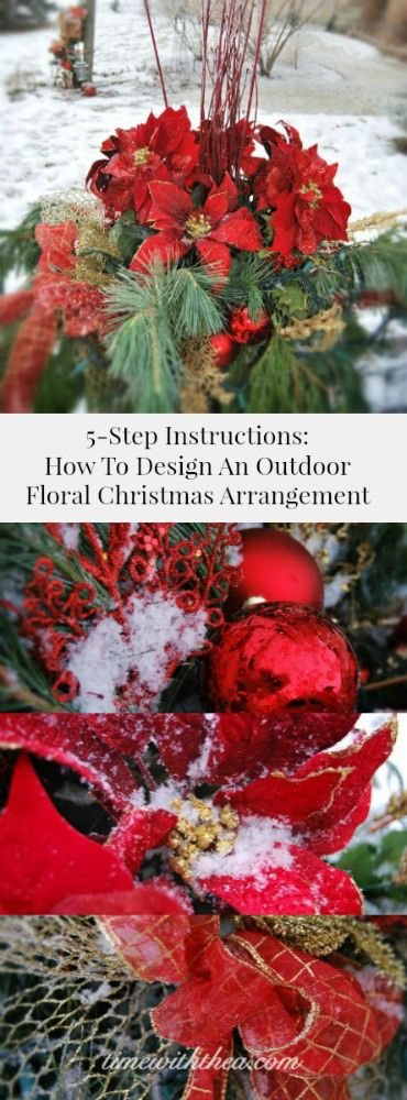 5-Step Instructions How to Design a Christmas Outdoor Floral