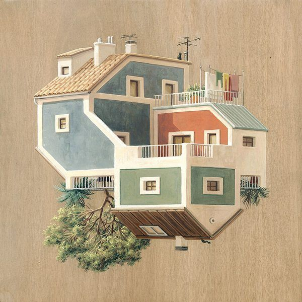 Attrayant Surreal Architectural Illustrations By Cinta Vidal Agulló