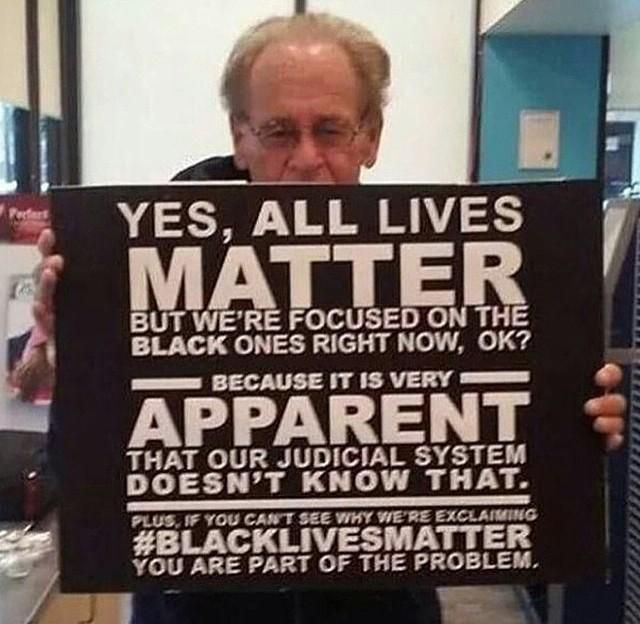 This says it all.   #BlackLivesMatter
