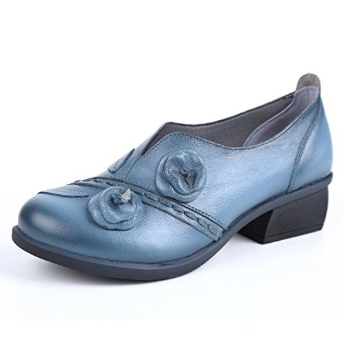 code promo 00a7e cf7c6 Socofy Mocassins Femme Chaussures de Ville en Cuir Escarpins ...