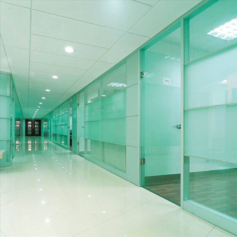 Tempered glass partition wall pinteres for Exterior glass wall texture