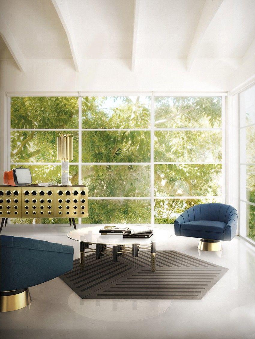 Ideen für zeitgenössische Wohnzimmer | Innenarchitektur, Moderne ...