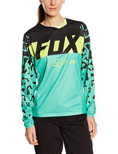 3448505e5 Fox Racing Demo DH LS Race Womens MTB Jersey Miami Green ... http