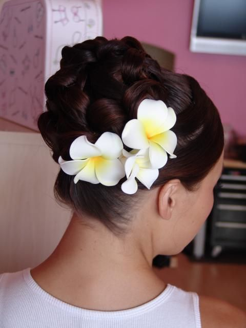 Plumeria Updo Hair Accessories Tutorial Short Hair Styles Easy Hair Flowers Diy