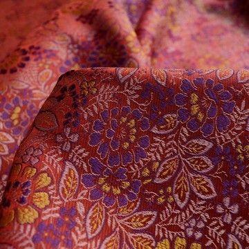 Turkish Delight - Pink Floral Brocade -cu
