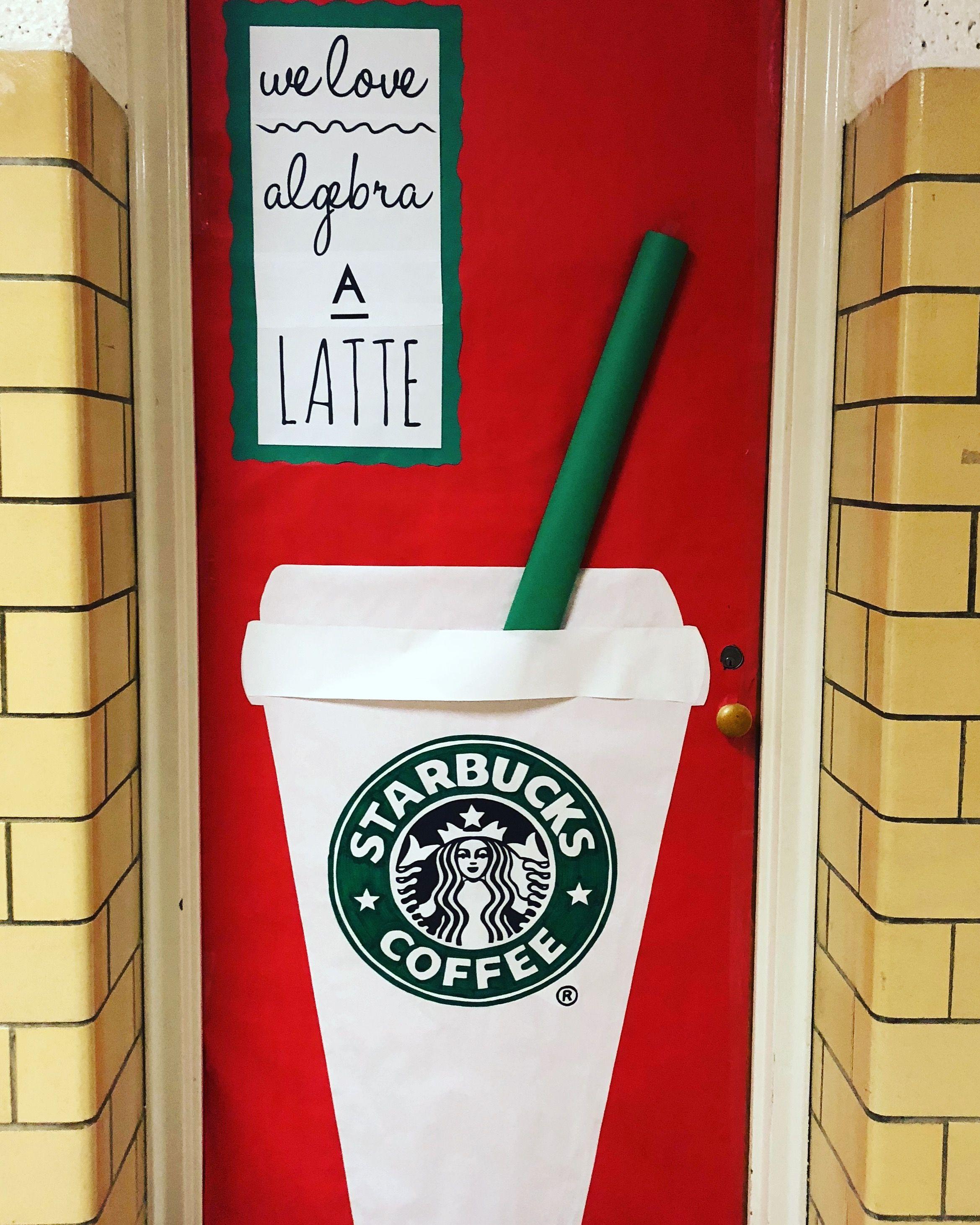 Starbucks Classroom Door Decoration Christmas School Door