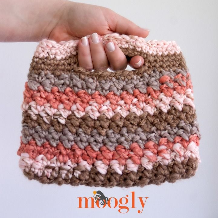 Free #Crochet Pattern: Chunky Stripey Bag | Bolsos y Ganchillo