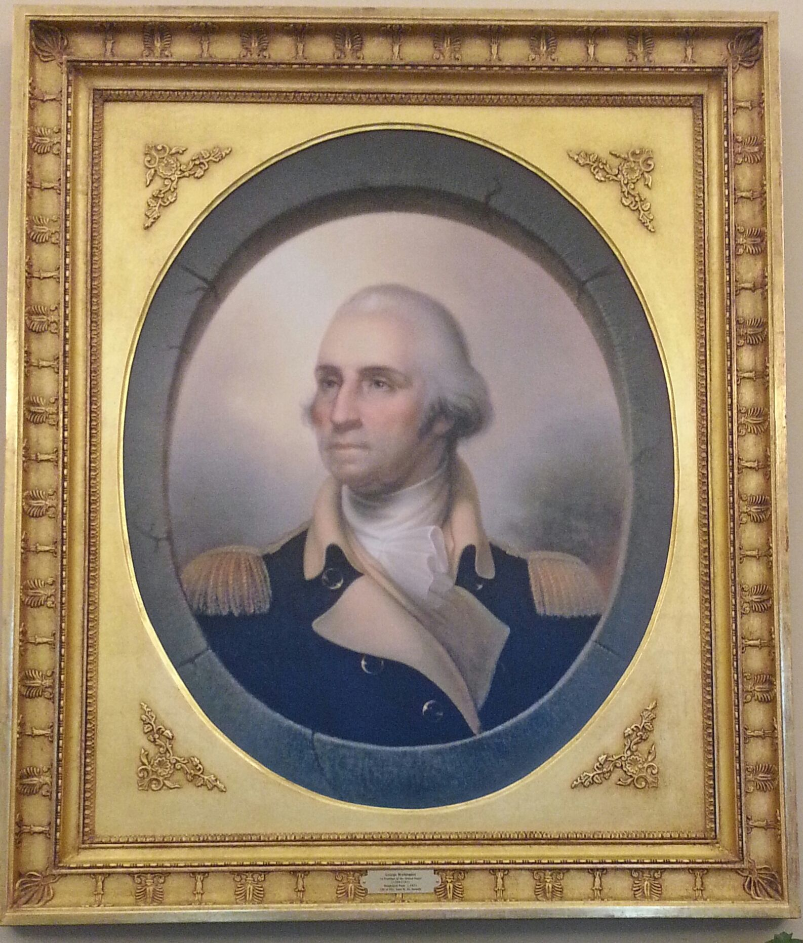 Portrait of george washington that hung in the oval office during george washington father of our country written by henry cabot lodge and theodore roosevelt and included in the book hero tales from american history fandeluxe PDF