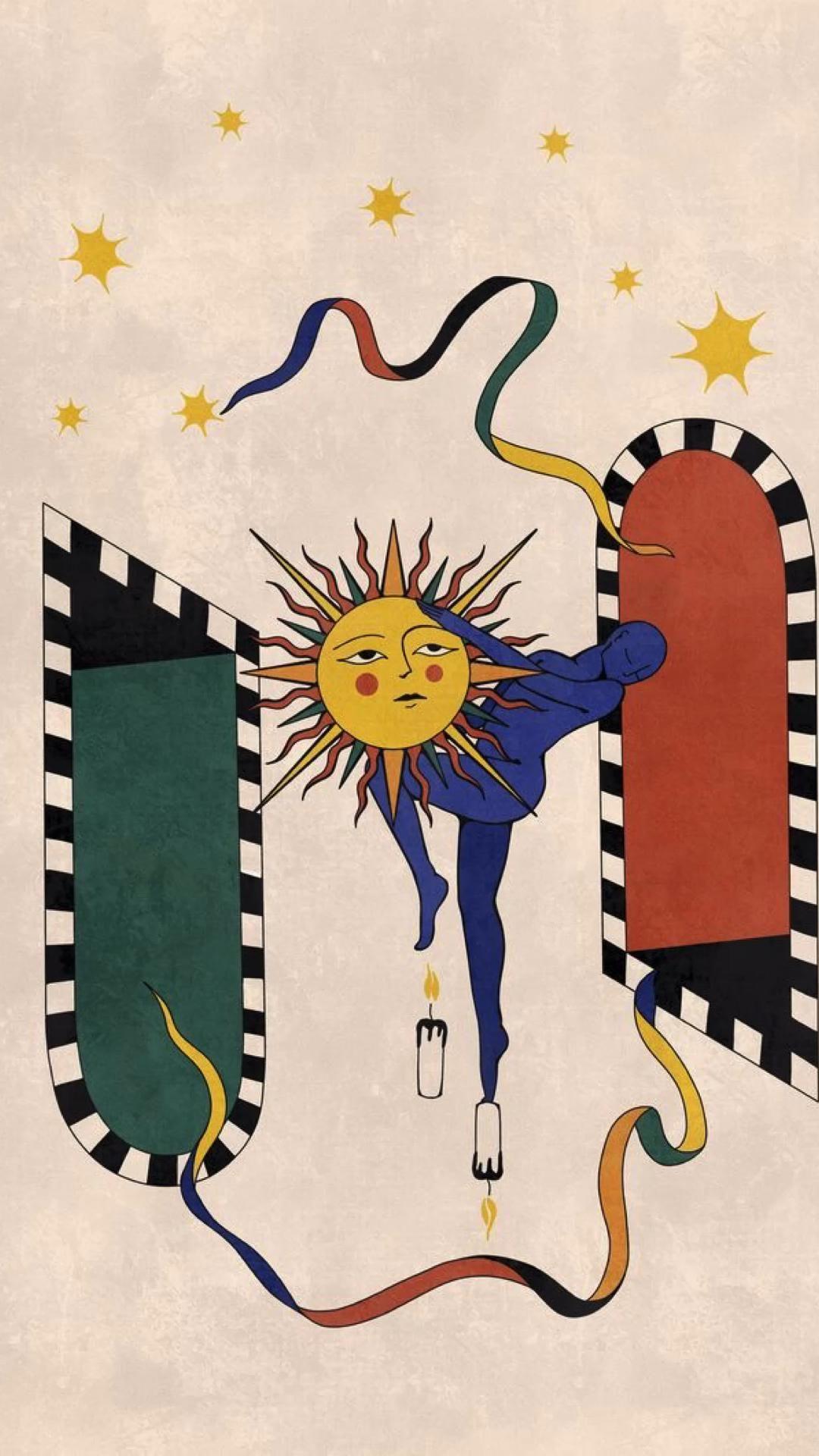 Wallpaper Phone | Wall Posters | Minimalist | Sun | Inspo Cool