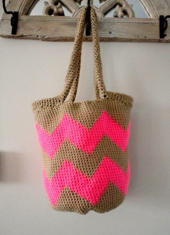 Chevron Stripe Tote Bag | Products I love | Pinterest