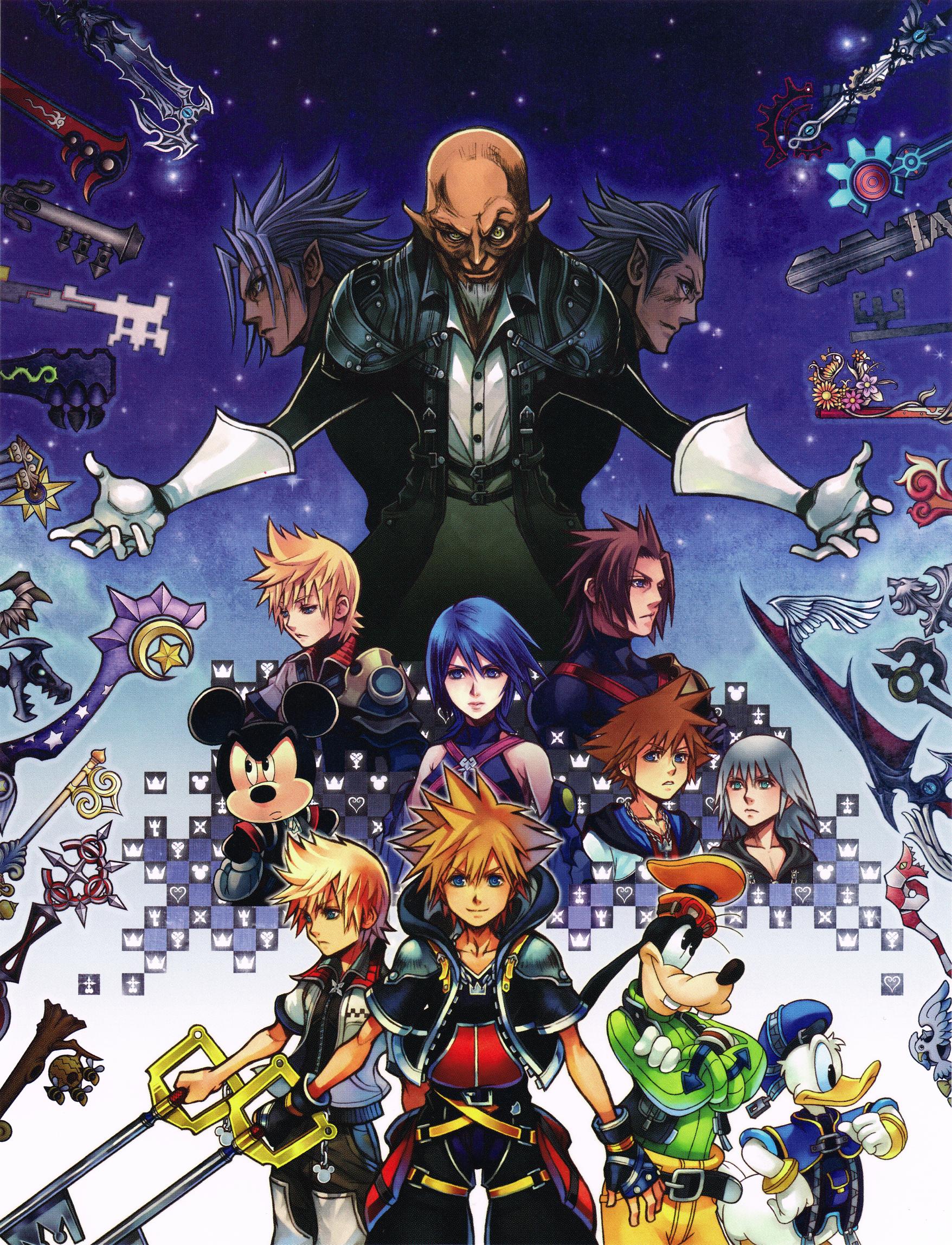 Kh2 5 Poster Crop Png 1756 2296 Kingdom Hearts Hd Kingdom Hearts Characters Kingdom Hearts