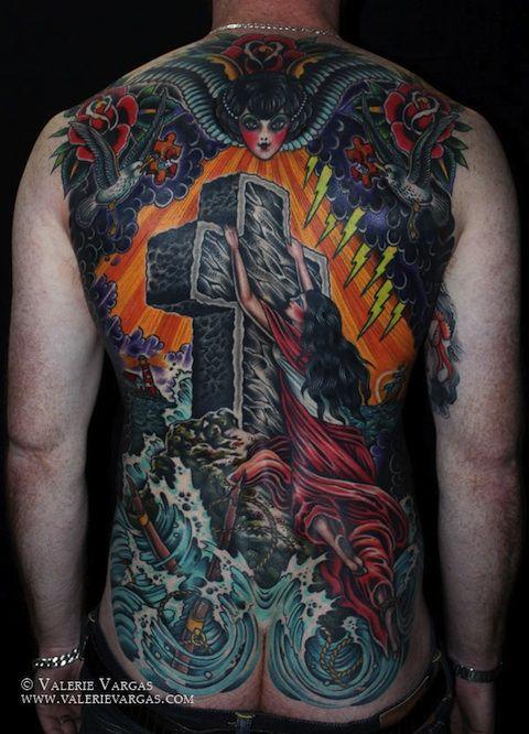 Needles And Sins Tattoo Blog Tattoo Age 2 Valerie Vargas Rock Of Ages Tattoo Tattoos Back Tattoo