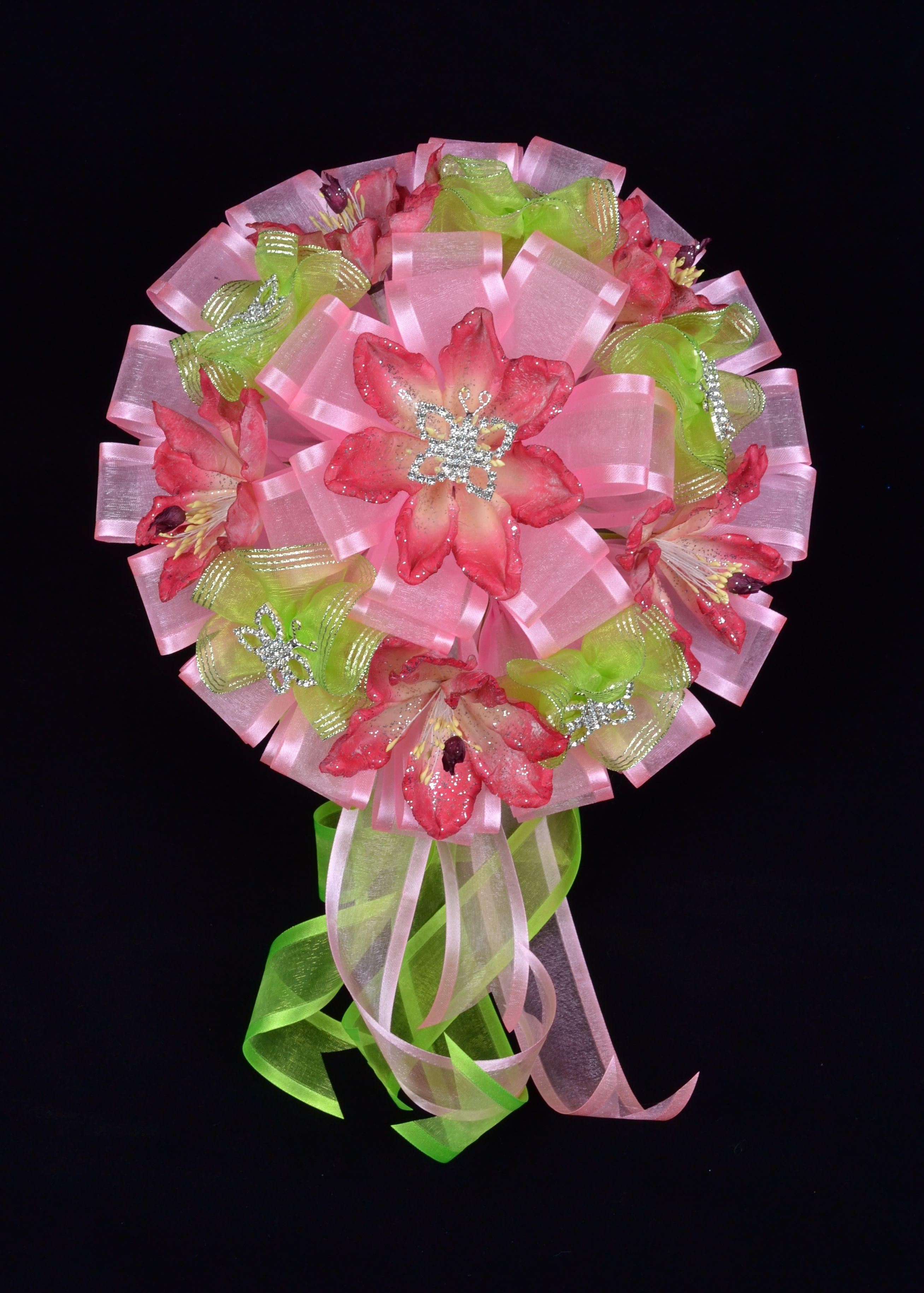 Pink flower bouquet flowerbouquet misquince quince sweetfifteen pink flower bouquet flowerbouquet misquince quince sweetfifteen sweetxv pink green izmirmasajfo