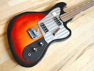 1960s Sears Silvertone Model 1438 Vintage Electric Bass By Teisco Japan Eb 200 Bass Guitar Bass Electric Bass