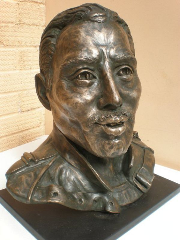 bronze resin available as foundry bronze poa sculpture