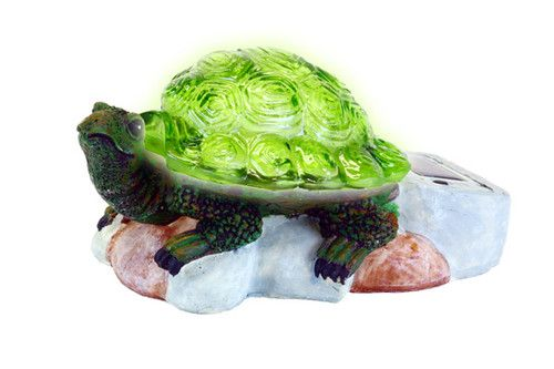 New Decorative Turtle Lawn Ornament with Solar Powered Light Up Shell for Garden   eBay