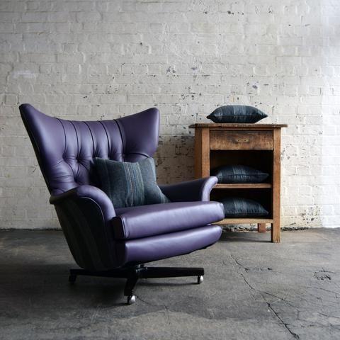 Purple Leather G Plan 6250 Swivel Chair Dining Room Chairs Ikea Purple Leather Sofas Leather Swivel Chair