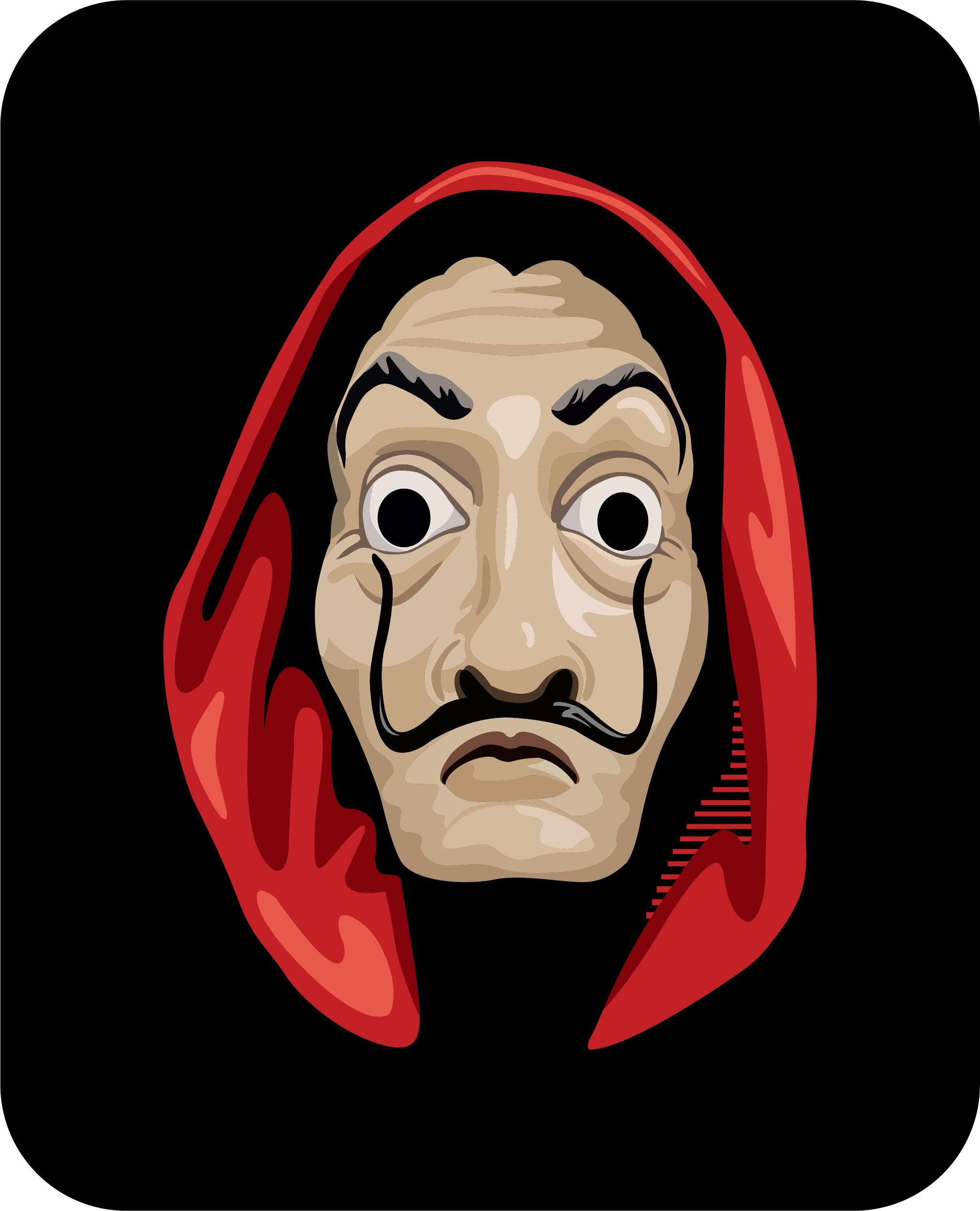 Money Heist Mask Mask Drawing Space Phone Wallpaper Greys Anatomy Gifts