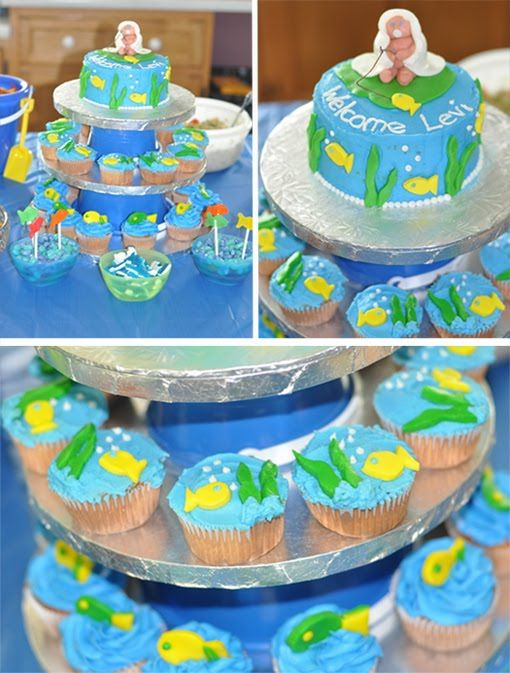 Decorations For A Fishing Theme Baby Shower | Baby Shower Fishing Themed  Cake |