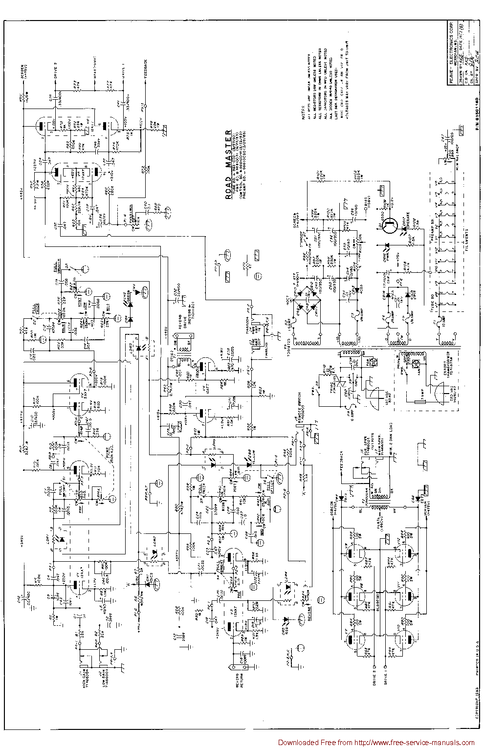 PEAVEY PV1500 Service Manual download     schematics     eeprom     repair    info for electronics experts